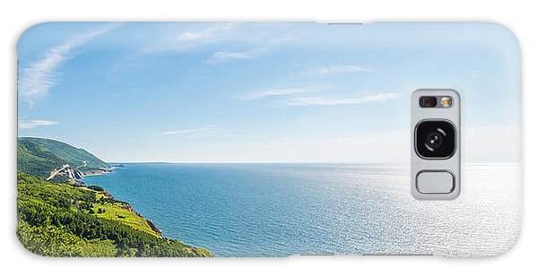 Cabot Trail Galaxy Case - Panorama Of A Coastal Scene On The Cabot Trail by Vadim Petrov