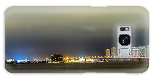 Panorama Of Biscayne Bay In Miami Florida Galaxy Case