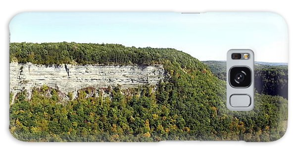 Panorama Of Cliff At Letchworth State Park Galaxy Case