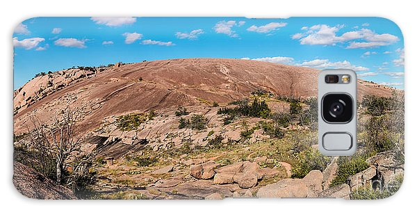 Panorama Of Enchanted Rock State Natural Area - Fredericksburg Texas Hill Country Galaxy Case