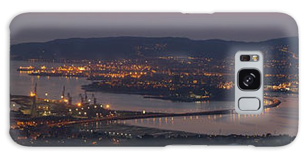 Panorama Of Ferrol From Mount Marraxon Galicia Spain Galaxy Case