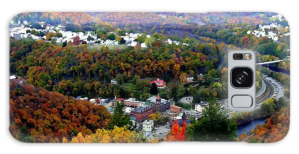 Panorama Of Jim Thorpe Pa Switzerland Of America - Abstracted Foliage Galaxy Case