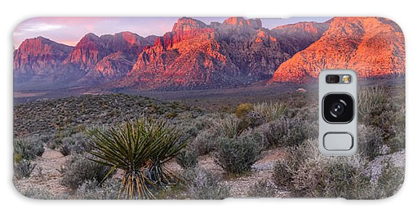 Panorama Of Rainbow Wilderness Red Rock Canyon - Las Vegas Nevada Galaxy Case