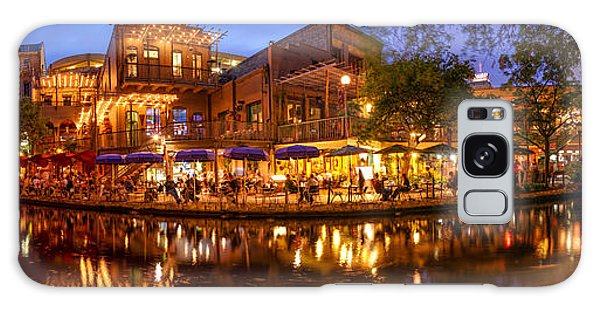 Panorama Of San Antonio Riverwalk At Dusk - Texas Galaxy Case