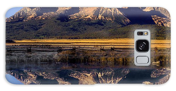 Panorama Reflections Sawtooth Mountains Nra Idaho Galaxy Case by Dave Welling