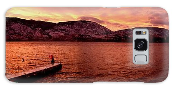 Panorama Sunset Skaha Lake Galaxy Case by Guy Hoffman
