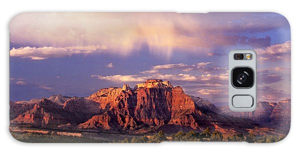 Panorama West Temple At Sunset Zion Natonal Park Galaxy Case by Dave Welling