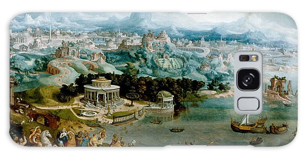 Panorama With The Abduction Of Helen Amidst The Wonders Of The Ancient World Galaxy Case