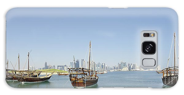 Panoramic Dhows And Qatar Skyline Galaxy Case