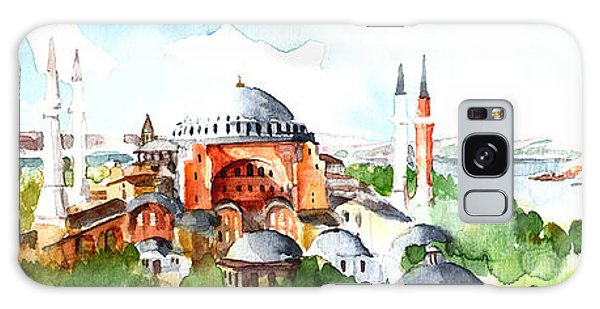 Panoramic Hagia Sophia In Istanbul Galaxy Case