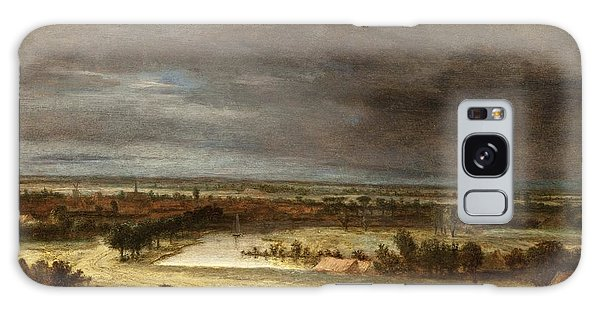 Panoramic Landscape With A Village Galaxy Case