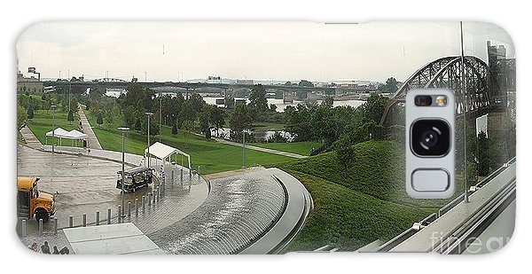 Online Shopping Cart Galaxy Case - Panoramic Little Rock View by Karen Francis