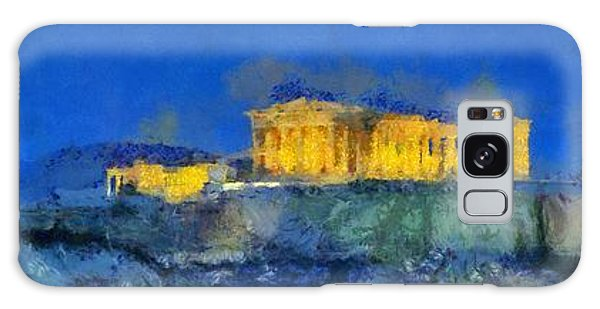 Panoramic Painting Of Acropolis In Athens Galaxy Case