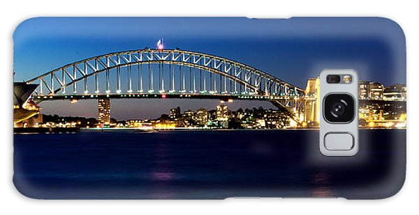 Panoramic Photo Of Sydney Night Scenery Galaxy Case