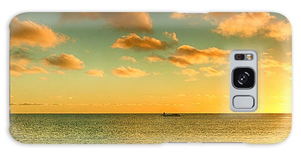 Panoramic Photo Sunrise At Monky Mia Galaxy Case