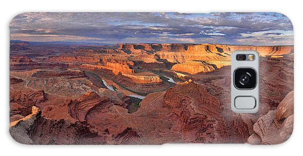 Panoramic Sunrise Over Dead Horse Point State Park Galaxy Case by Sebastien Coursol