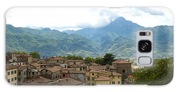 Panoramic View Barga And Apennines Italy Galaxy Case