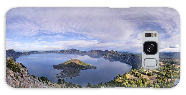 Panoramic View Of Crater Lake And Wizard Island Galaxy Case by Sebastien Coursol