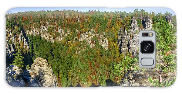 Panoramic View Of The Elbe Sandstone Mountains Galaxy Case