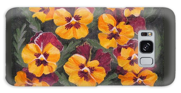Pansies Are For Thoughts Galaxy Case