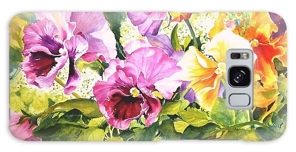 Pansies Delight #3 Galaxy Case