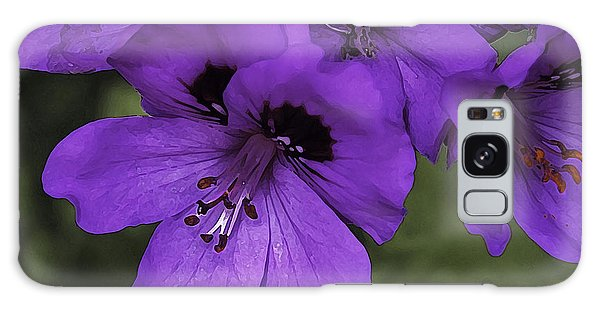 Pansies In Purple Galaxy Case