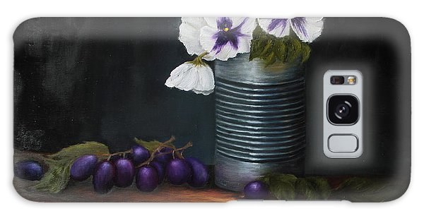 Pansies In Tin Can Galaxy Case