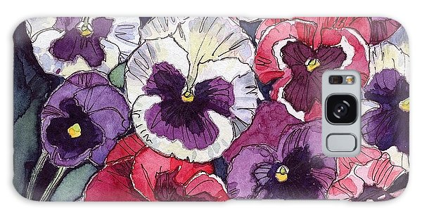 Pansies Galaxy Case