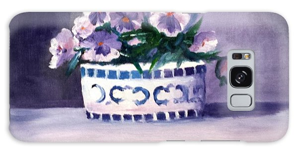 Pansies Galaxy Case by Larry Hamilton