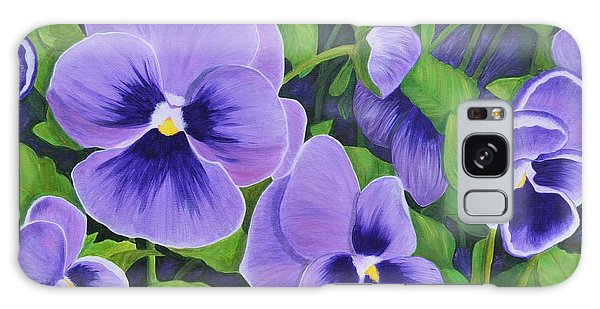 Pansies Schmanzies Galaxy Case by Donna  Manaraze