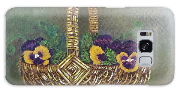 Pansy Basket Sherry Nelson Study Galaxy Case by Sharon Schultz
