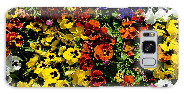 Pansy Color Mix  Galaxy Case