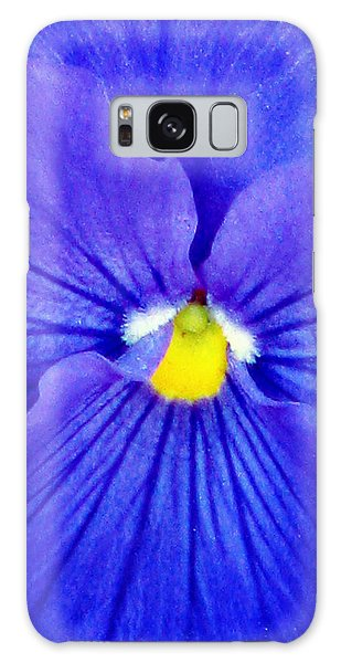 Pansy Flower 37 Galaxy Case