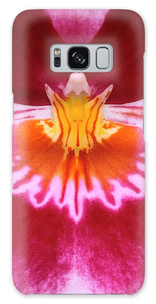Orchidaceae Galaxy Case - Pansy Orchid Abstract by Nigel Downer