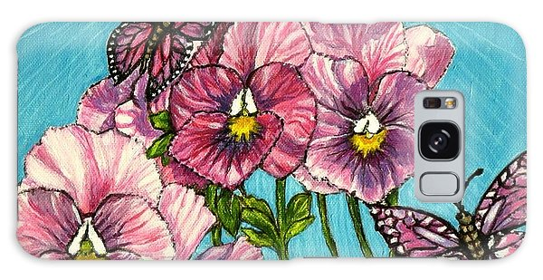 Pansy Pinwheels And The Magical Butterflies Galaxy Case by Kimberlee Baxter