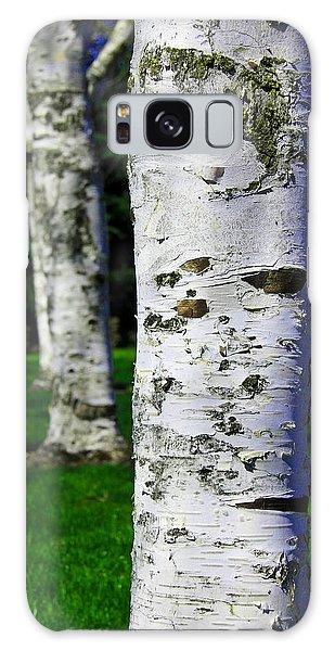 Paper Birch Trees Galaxy Case by Aaron Berg