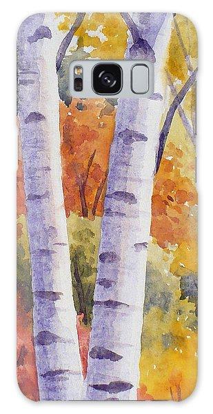Paper Birches In Autumn Galaxy Case