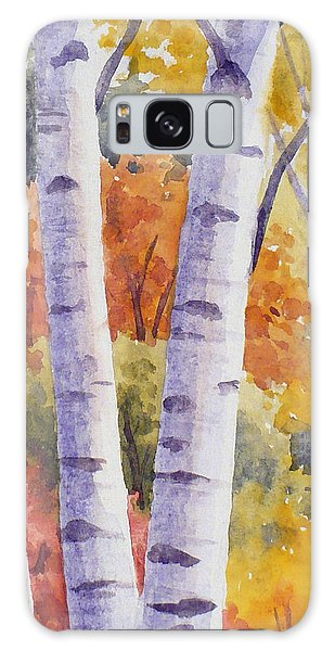 Paper Birches In Autumn Galaxy Case