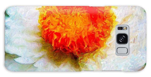 Paper Daisy Galaxy Case by Chuck Mountain