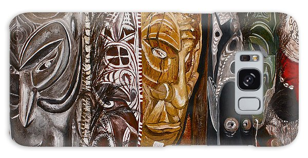Papua New Guinea Masks Galaxy Case
