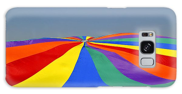 Parachute Of Many Colors Galaxy Case