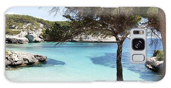 Paradise In Minorca Is Called Cala Mitjana Beach Where Sand Is Almost White And Sea Is A Deep Blue  Galaxy Case
