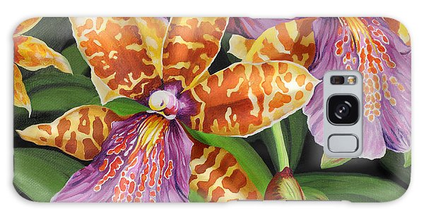 Paradise Orchid Galaxy Case by Jane Girardot