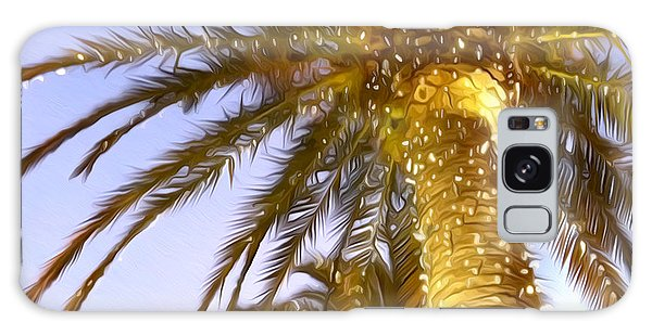 Paradise Palm Galaxy Case