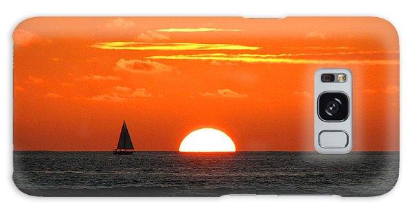 Paradise Sunset Sail Galaxy Case