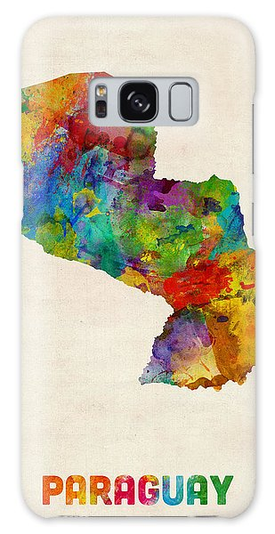 Paraguay Watercolor Map Galaxy Case