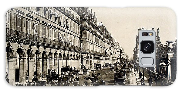 Paris 1900 Rue De Rivoli Galaxy Case by Ira Shander