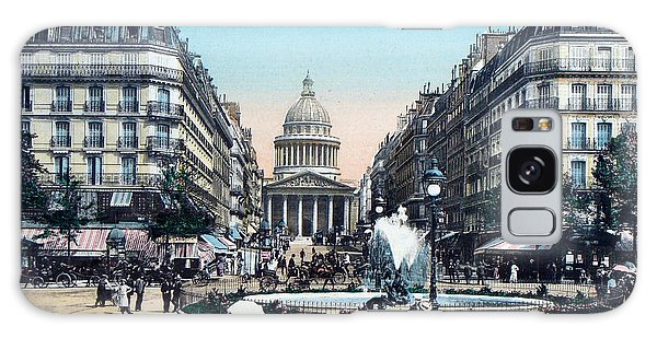 Paris 1910 Rue Soufflot And Pantheon Galaxy Case
