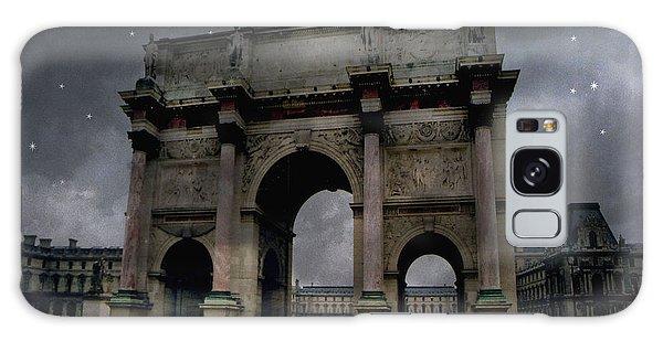 Paris Arc Du Carousel - Louvre Museum Arc De Triomphe - Starry Night Blue Paris Louvre Courtyard Galaxy Case