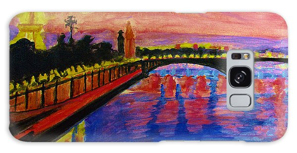 Paris City Of Lights At Dusk Galaxy Case